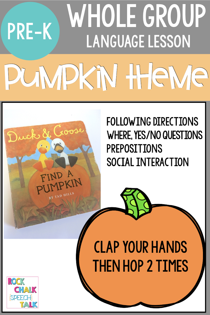Preschool Circle Time Language Groups: PUMPKINS