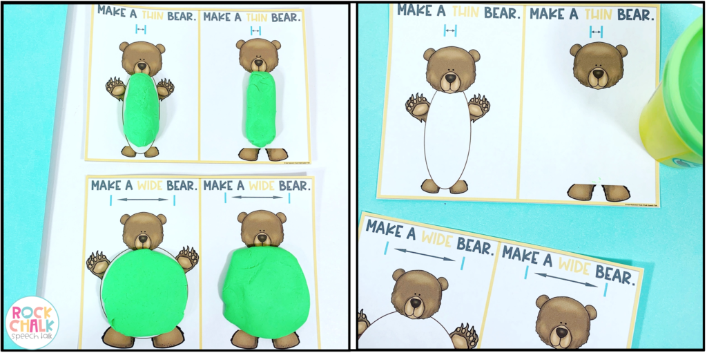 Bear Wants More play dough mats for basic concepts